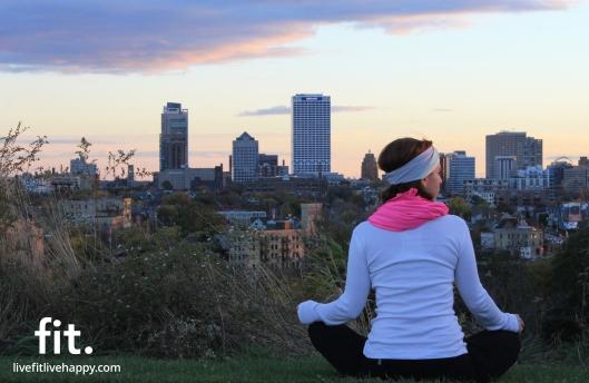 stretching with Milwaukee's skyline.
