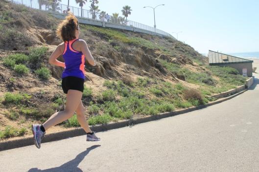 running along the ocean in california
